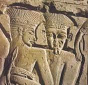 שמואל א פרק יז - מלחמת דוד וגולית.  תבליט: פלישתים