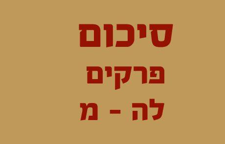 סיכומים – ספר שמות פרקים לה-מ
