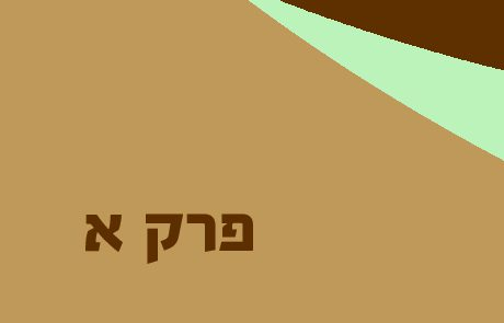 ירמיהו פרק א – ההקדשה והמראות -סיכומים והסברים