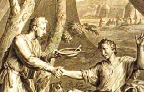 הולדת יעקב ועשיו ומכירת הבכורה (בראשית כה)