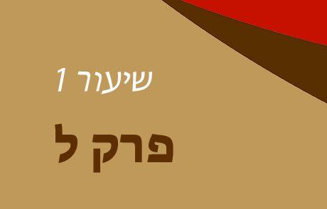 בראשית פרק ל – שיעור 1