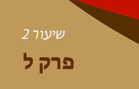 בראשית פרק ל – שיעור 2